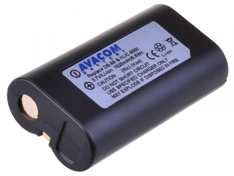 AVACOM Kodak KLIC-8000, Ricoh DB-50 Li-Ion 3.7V 1520mAh 5.6Wh