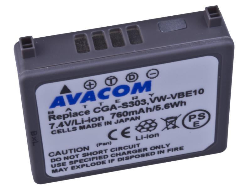 AVACOM Panasonic CGA-S303, VW-VBE10 Li-ion 7.4V 760mAh 5.6Wh