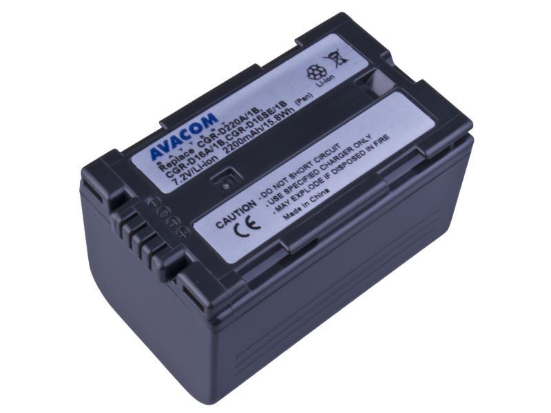AVACOM Panasonic CGR-D220/D16s, Hitachi DZ-BP16 Li-ion 7.2V 2200mAh 15.8Wh černá