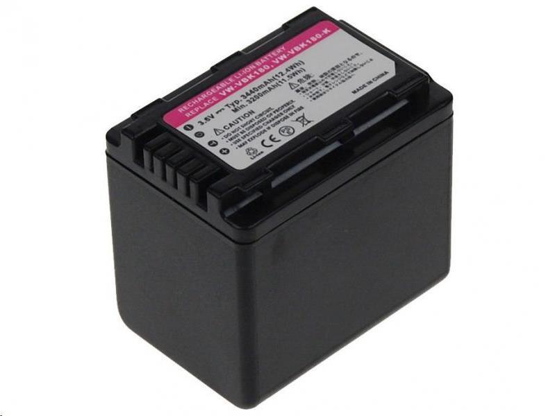 AVACOM Panasonic VW-VBK360E-K Li-ion 3.6V 3440mAh 12Wh verze NEW 2012