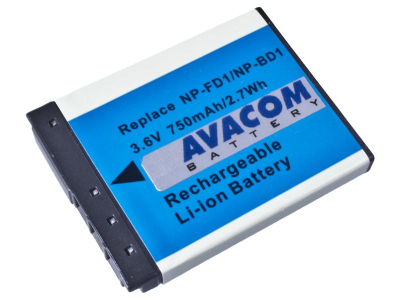 AVACOM Sony NP-BD1/NP-FD1 Li-ion 3.6V 750mAh 2.7Wh (tm. modrý index)