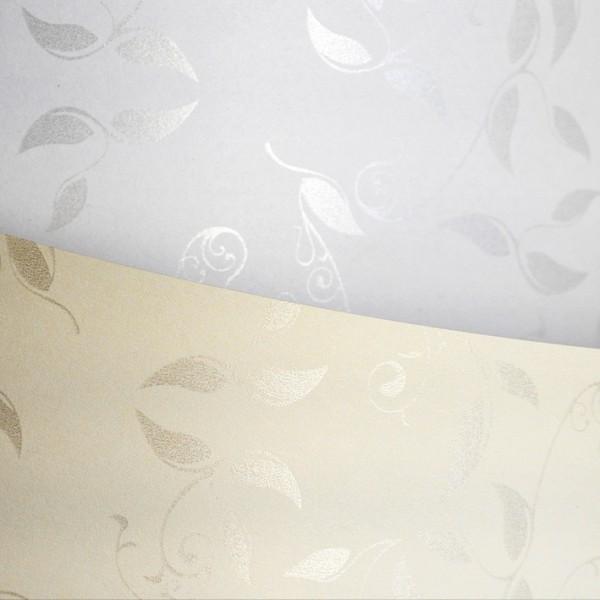 ozdobný papír Liana bílá 100g, 50ks