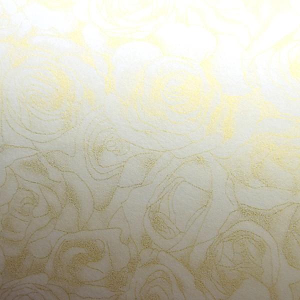 ozdobný papír Růže ivory 100g, 50ks