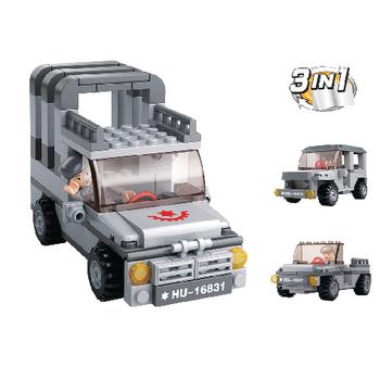 VÝPRODEJ - Sluban stavebnice Jeep 3v1 - M38-B0537A