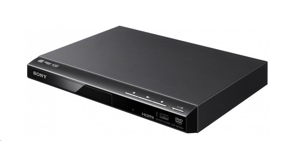 SONY DVPSR760HB DVD přehrávač, DVD±R/RW, DVD+R DL, CD-R/RW, MP3, WMA, JPEG, Xvid, front USB, HDMI, coaxial digital out