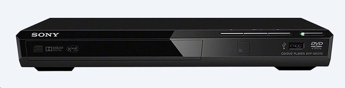 SONY DVPSR370B DVD přehrávač s USB vstupem, DVD-R/RW, DVD+R/RW, CD R/RW, MP3/AAC/WMA/LPCM/MPEG1/MPEG4, výstup SCART