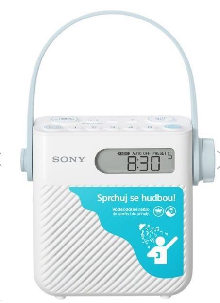 SONY ICFS80 AM/FM radiopřijímač, digitální tuner, Autoscan, 5 pamětí, timer, hodiny, sleep fce