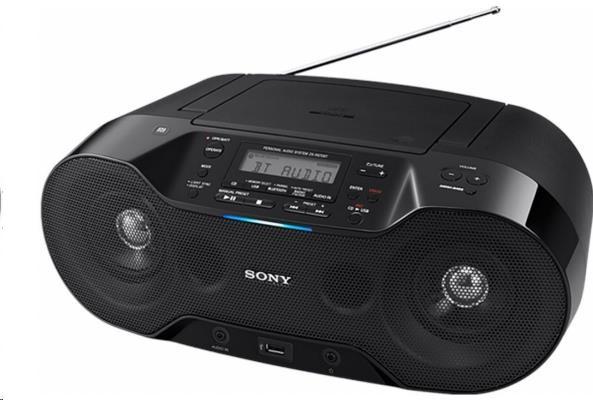 SONY ZSRS70BTB Bezdrátový CD přehrávač, přehrávání audia z CD, USB, MP3, Bluetooth,