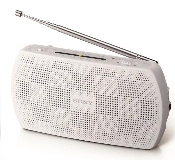 SONY SRF18W Radiopřijímač, FM Stereo, AM Analog Tuner, Audio In/Audio Out, Tuning indikátor, FM antena