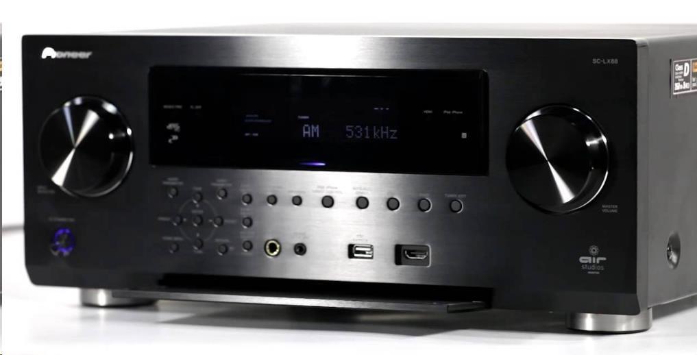 PIONEER SC-LX88-K 9.2 kanálový referenční AV přijímač se zesilovačem, výkon 850 W, 8 vstupů/3 výstupy HDMI