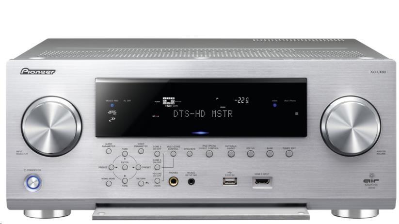 PIONEER SC-LX88-S 9.2 kanálový referenční AV přijímač se zesilovačem, výkon 850 W, 8 vstupů/3 výstupy HDMI