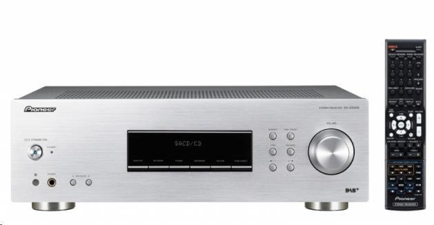 PIONEER SX-20DAB-S Stereofonní integrovaný přijímač, výkon 2x100W, FM RDS / AM / DAB+ tuner, MM přenoskový předzesilovač