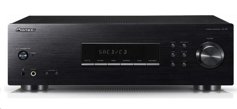 PIONEER SX-20-K stereofonní integrovaný přijímač, výkon 2x100W, FM RDS / AM tuner, MM přenoskový předzesilovač