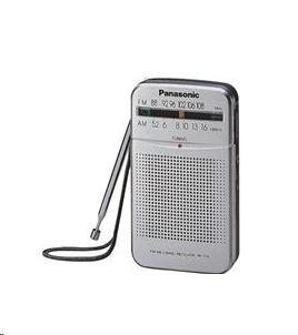 PANASONIC RF-P50EG9-S kapesní rádio, FM/AM tuner, teleskopická anténa, napájení AA bateriemi