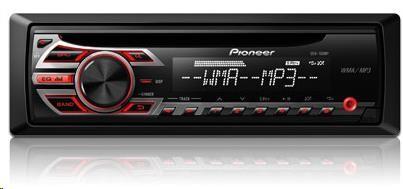 PIONEER DEH-150MP výkon 4x50W, FM/MW tuner, RDS, Line in, RCA pre out, odnímatelný čelní panel