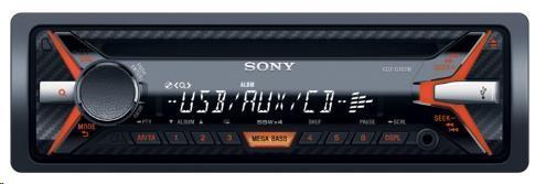 SONY CDXG1101U Autorádio s CD/MP3 přehrávačem, výkon 4 x 55 W, USB , AUX , 3-pásmový equalizér EQ3