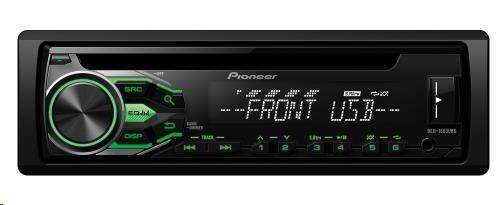 PIONEER DEH-1800UBG Autorádio s CD, AUX a USB, Android fce AOA 2.0, RCA, vstup pro kabelové DO z volantu, 4x50W