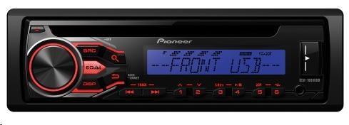 PIONEER DEH-1800UBB Autorádio s CD, AUX, USB, Android fce AOA 2.0, RCA, vstup pro kabelové DO z volantu, 4x50W