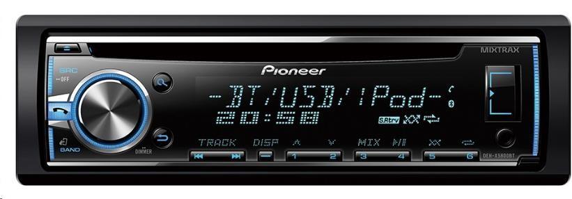 PIONEER DEH-X5800BT Autorádio s CD a čelním vstupem AUX a USB, vstup pro kabelové DO z volantu, výkon 4x50W