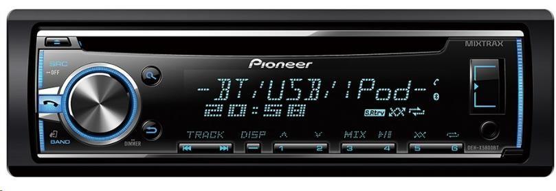 PIONEER DEH-4800BT Autorádio s CD a čelním vstupem AUX a USB, výkon 4x50W
