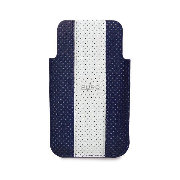 Puro IPHONE 4 GOLF CASE Ecoleather - dark blue/silver