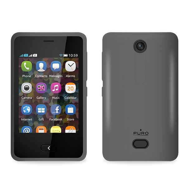 Puro silikonový kryt pro Nokia Asha 501, černá