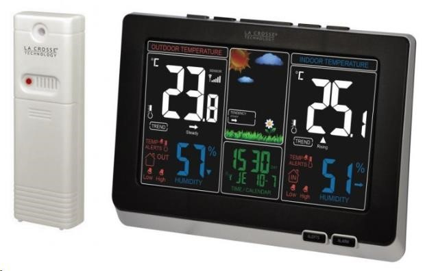 La Crosse Technology WS 6828BKS - meteorologická stanice s inverzním barevným displejem