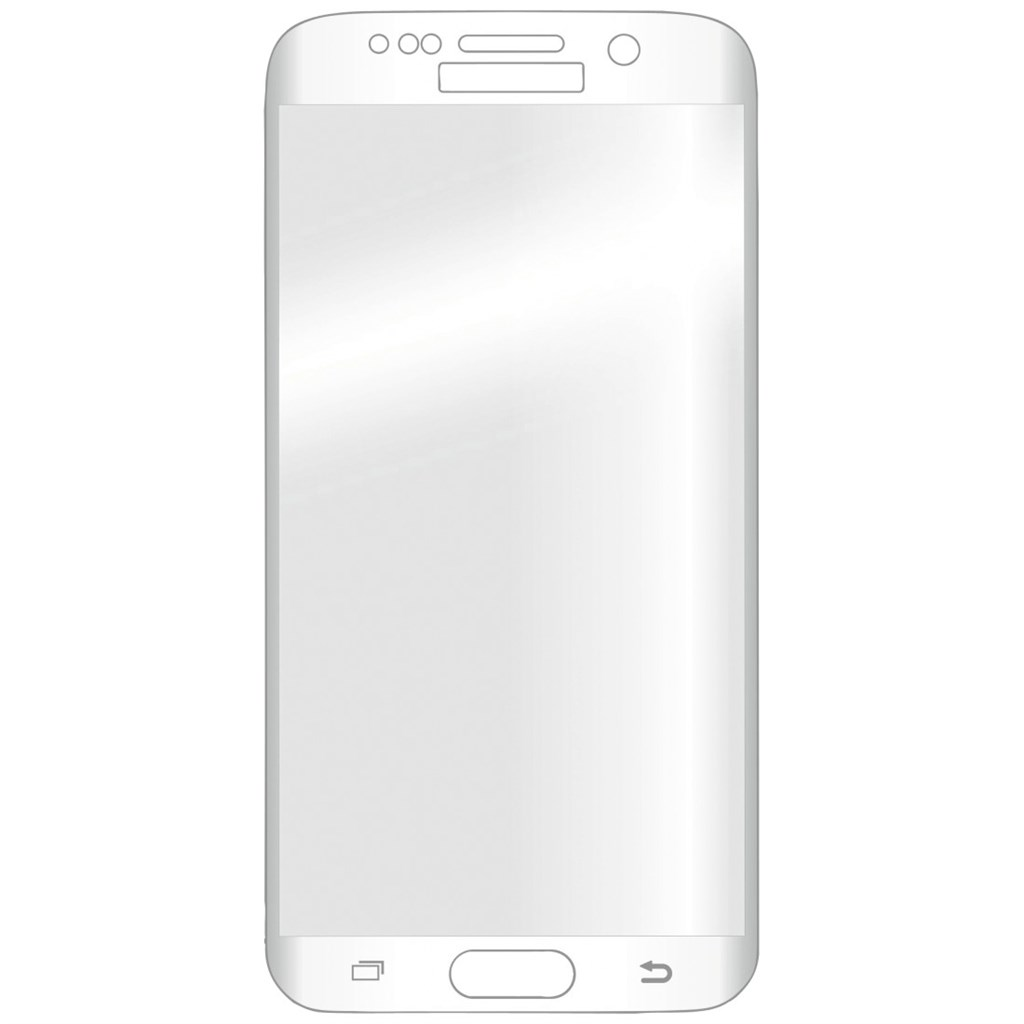 Hama 3D Full Screen Glass Protector for Samsung Galaxy S6 Edge, white