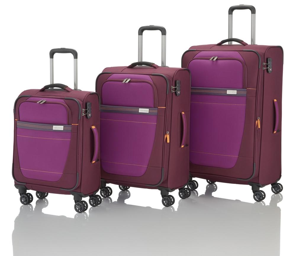 Travelite Meteor 4w S,M,L Berry – sada 3 kufrů