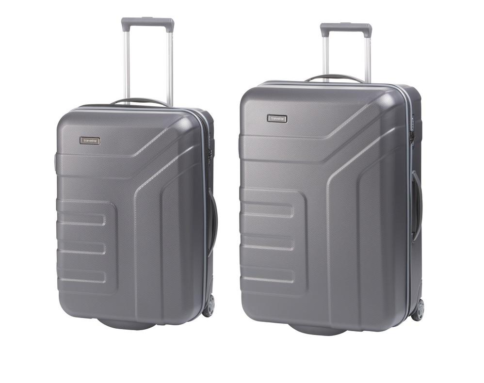 Travelite Vector 2w M,L Anthracite – sada 2 kufrů