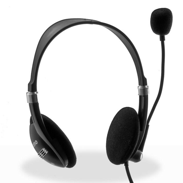 CRONO sluchátka s mikrofonem HM-52B, černá