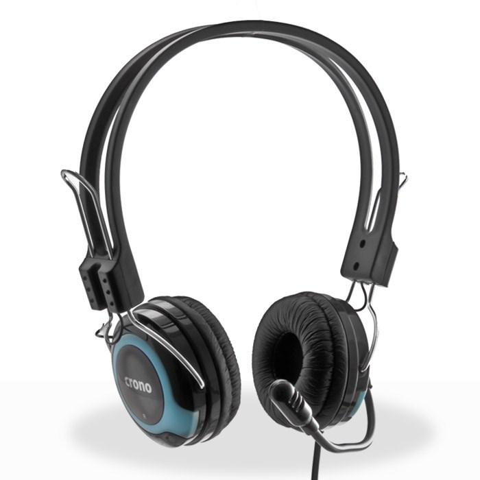CRONO sluchátka s mikrofonem HM-53B, černá