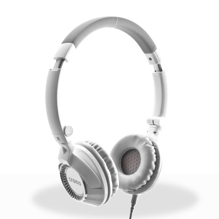 CRONO sluchátka s mikrofonem H-54W, bílá, profi
