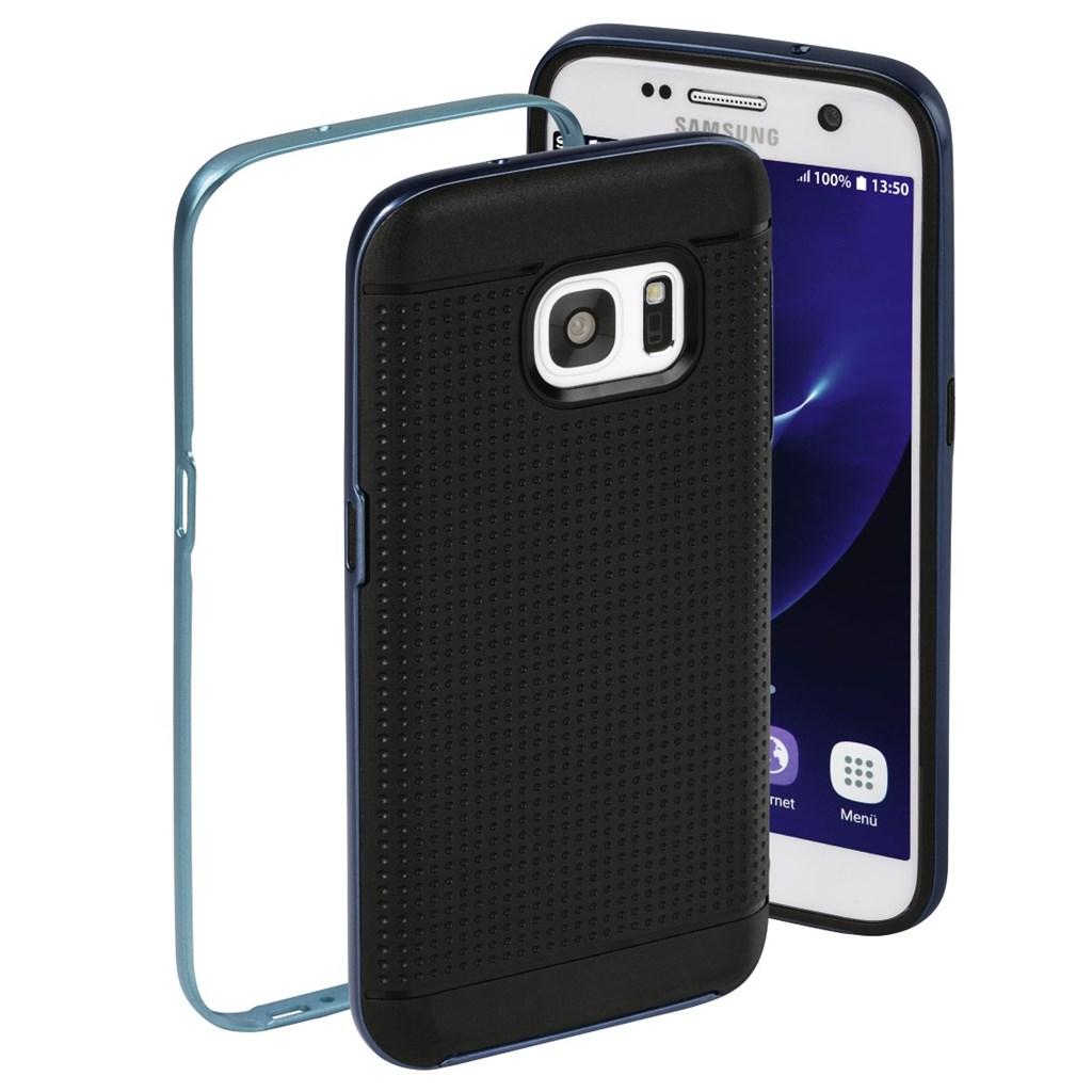 Hama Planet Cover Set for Samsung Galaxy S7, anthracite/blue