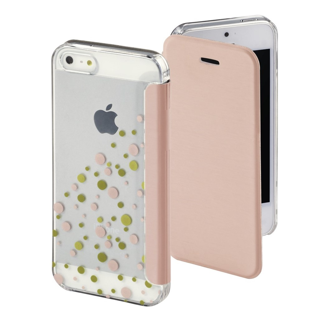 Hama Candy Drops Booklet Case for Apple iPhone 5/5s/SE, rose