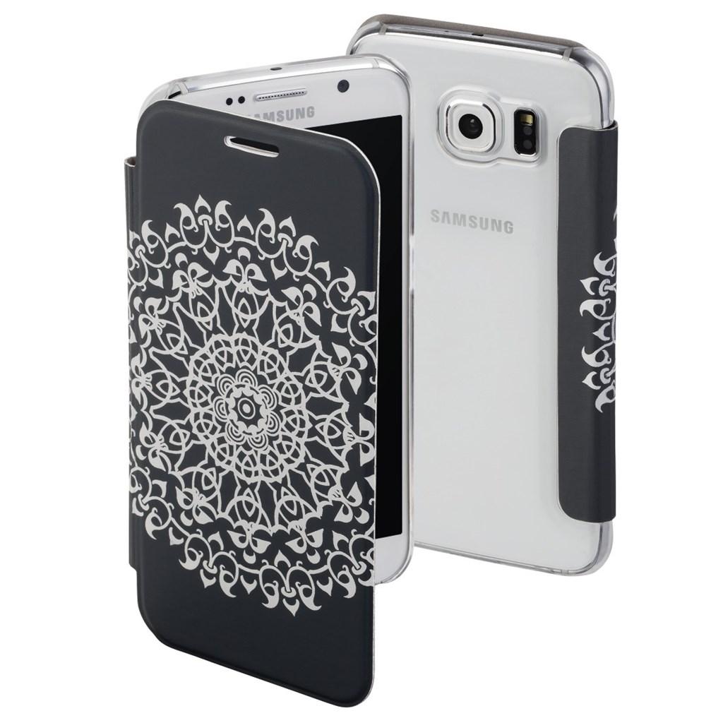 Hama Boho Circle Booklet Case for Samsung Galaxy S6, grey