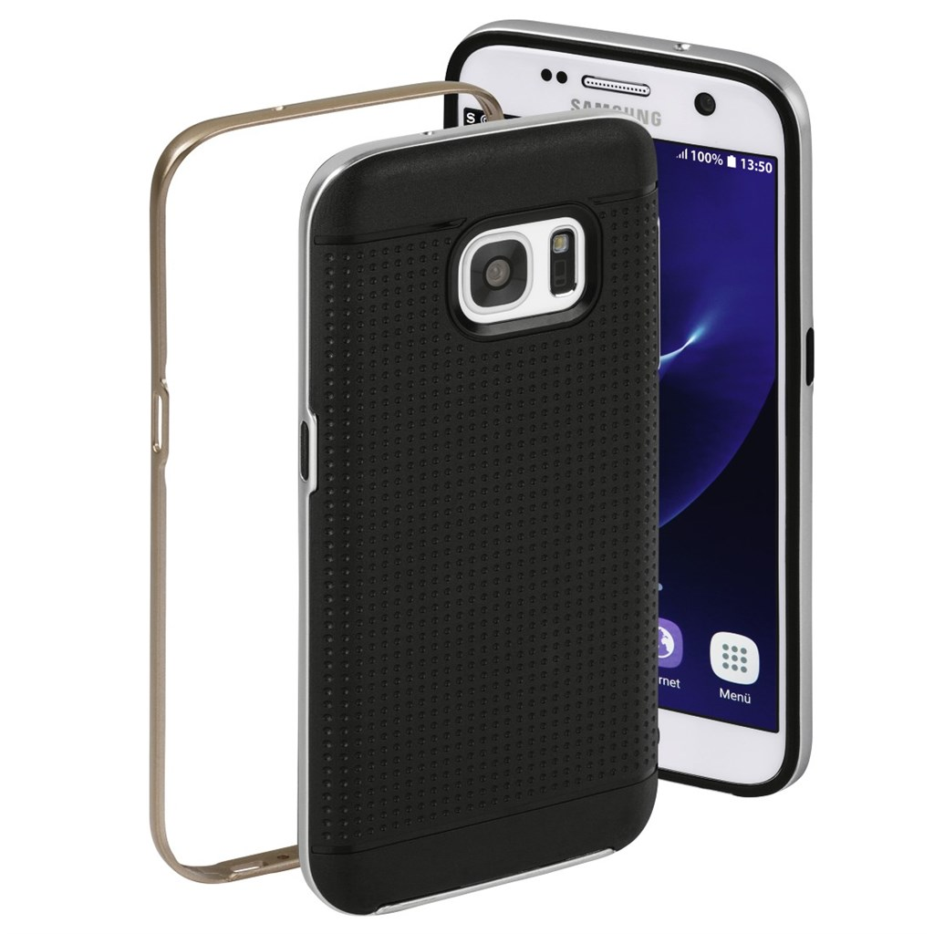 Hama Planet Cover Set for Samsung Galaxy S7, silver/bronze