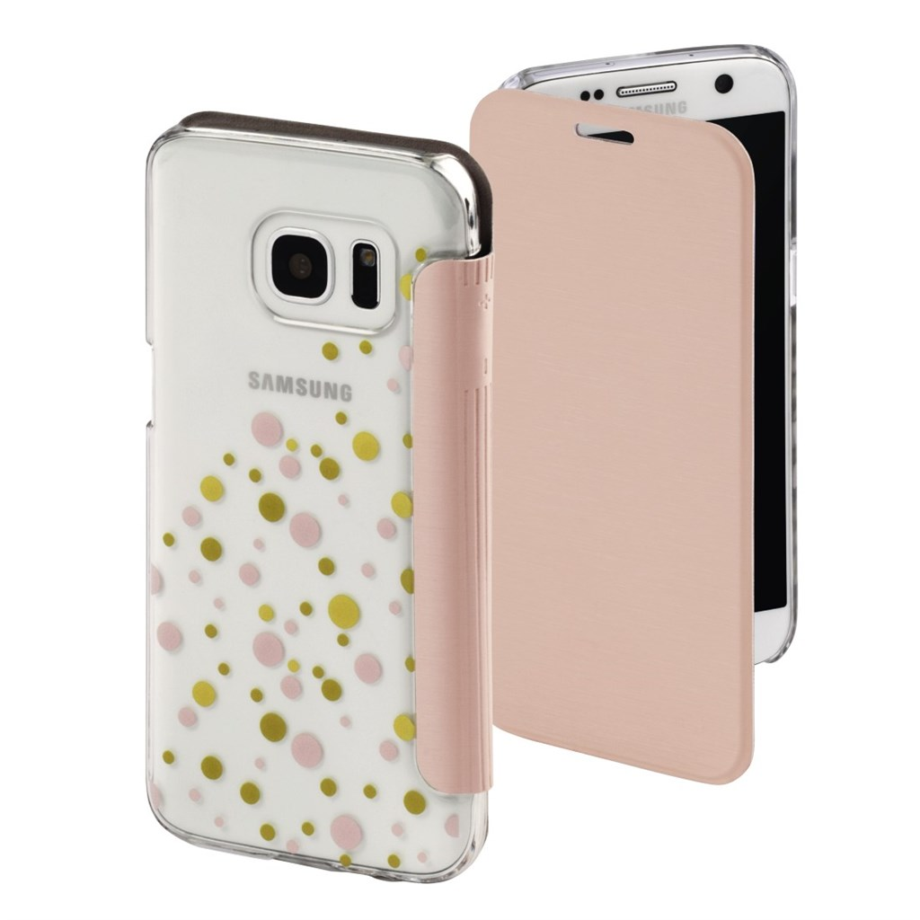 Hama Candy Drops Booklet Case for Samsung Galaxy S7, rose