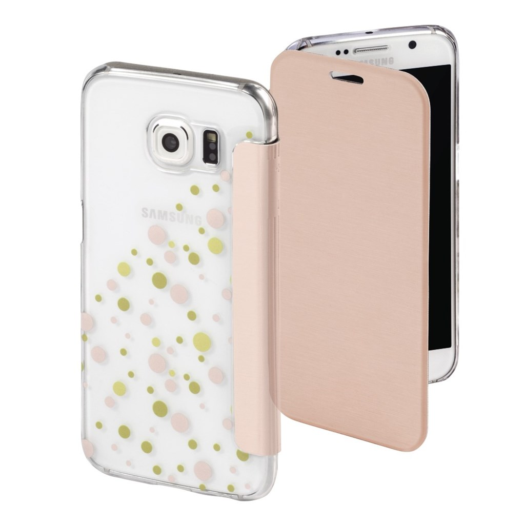 Hama Candy Drops Booklet Case for Samsung Galaxy S6, rose