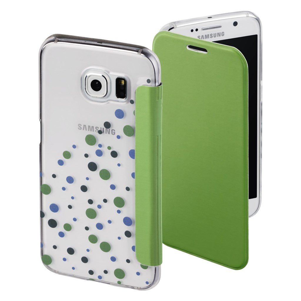 Hama Candy Drops Booklet Case for Samsung Galaxy S6, green