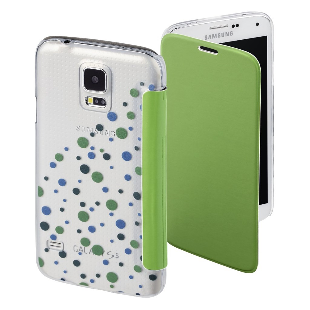 Hama Candy Drops Booklet Case for Samsung Galaxy S5 (Neo), green