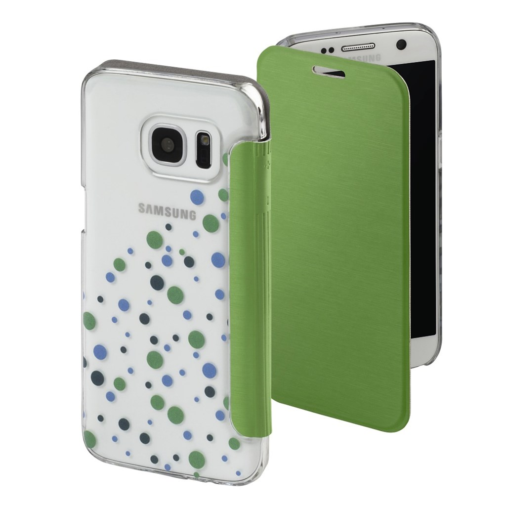 Hama Candy Drops Booklet Case for Samsung Galaxy S7, green