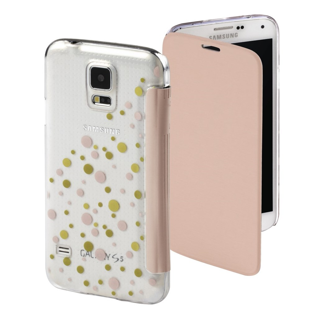 Hama Candy Drops Booklet Case for Samsung Galaxy S5 (Neo), rose