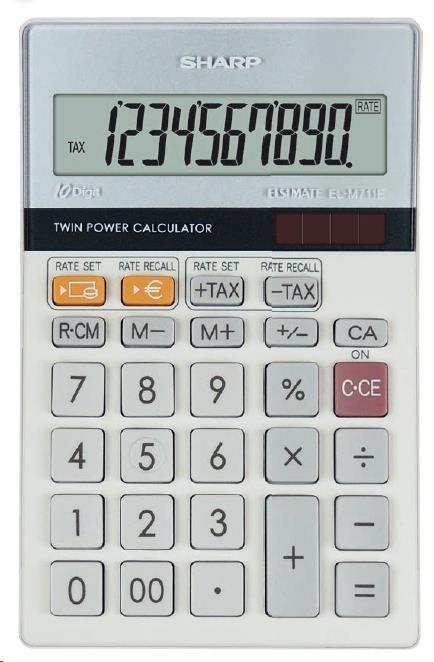 SHARP kalkulačka - ELM711E - stříbrná