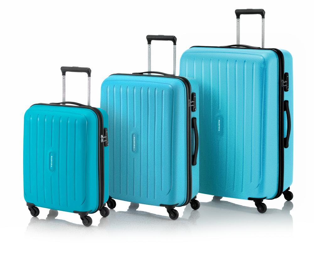 Travelite Uptown 4w S,M,L Petrol – sada 3 kufrů