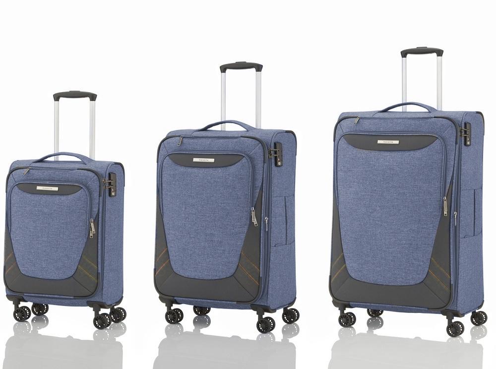 Travelite Mare 4w S,M,L Blue – sada 3 kufrů