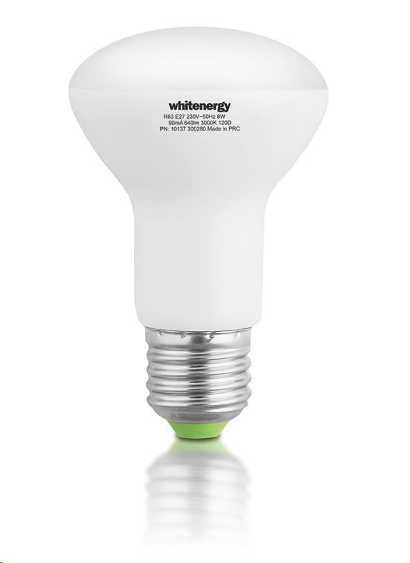 Whitenergy LED žárovka (E27, 8W, 640 lm, teplá bílá, úhel 120°)