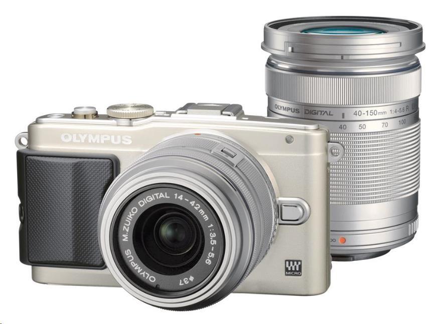 OLYMPUS E-PL6 fotoaparát 16.1MPix - Double Zoom Kit - stříbrný/stříbrný