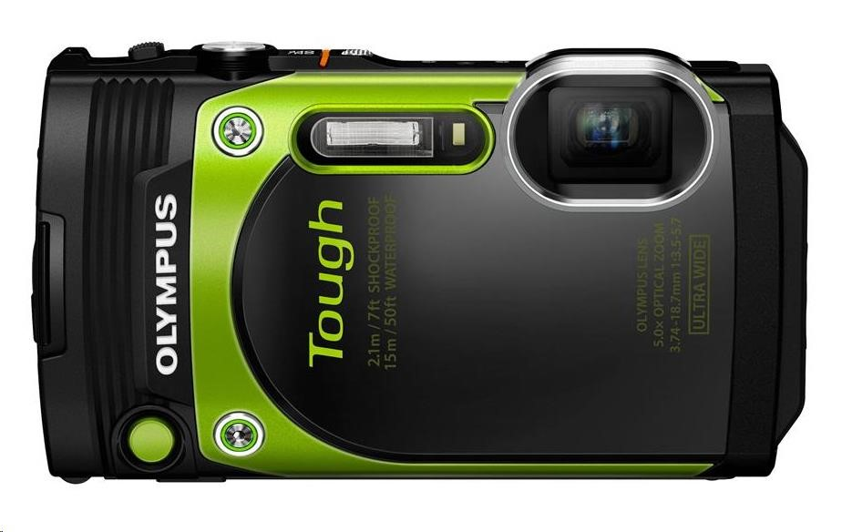 OLYMPUS TG-870 kompaktní fotoaparát - zelený