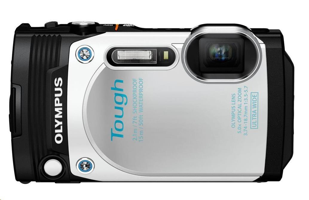 OLYMPUS TG-870 kompaktní fotoaparát - bílý